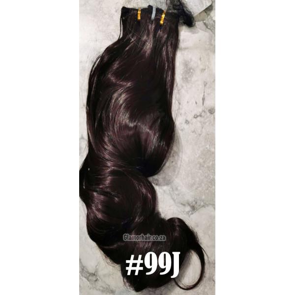 2-33 dark warm brown mix Tie on ponytail straight 55cm by ProExtend 775b61e40ca