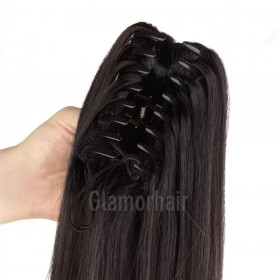 100% remy human hair  single clip-many colours