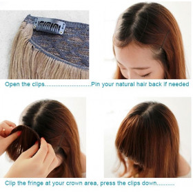 """16"""" Halo flip in hair extensions -100% Brazilian remy human hair"""