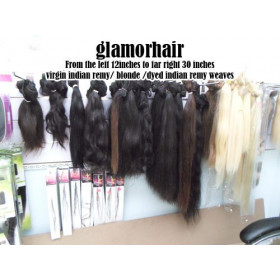 "100% Remy human hair single clip  35cm (14"")"