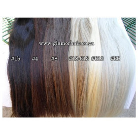 14inch Black to grey ombre I tip remy human hair extensions ( price per strand)
