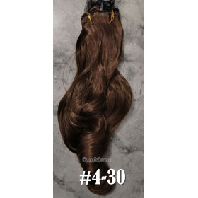 Edit: Ombre claw clip pony (10-16) 60cm body wave - proextend synthetic hair