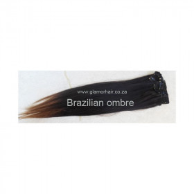 "Remy Brazilian clip in,  2 layer volumiser, 40cm (16"")"
